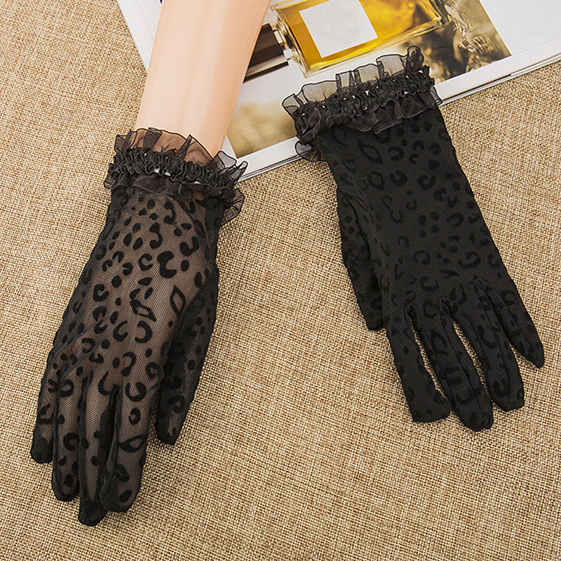 Summer/Autumn Lady Sunscreen Golves Women Sun Protection Glove Fashion Beautiful Women's Summer UV-Proof Driving Lace Gloves