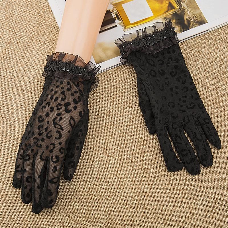 Summer/Autumn Lady Sunscreen Golves Women Sun Protection Glove Fashion Beautiful Women's Summer UV-Proof Driving Lace Gloves
