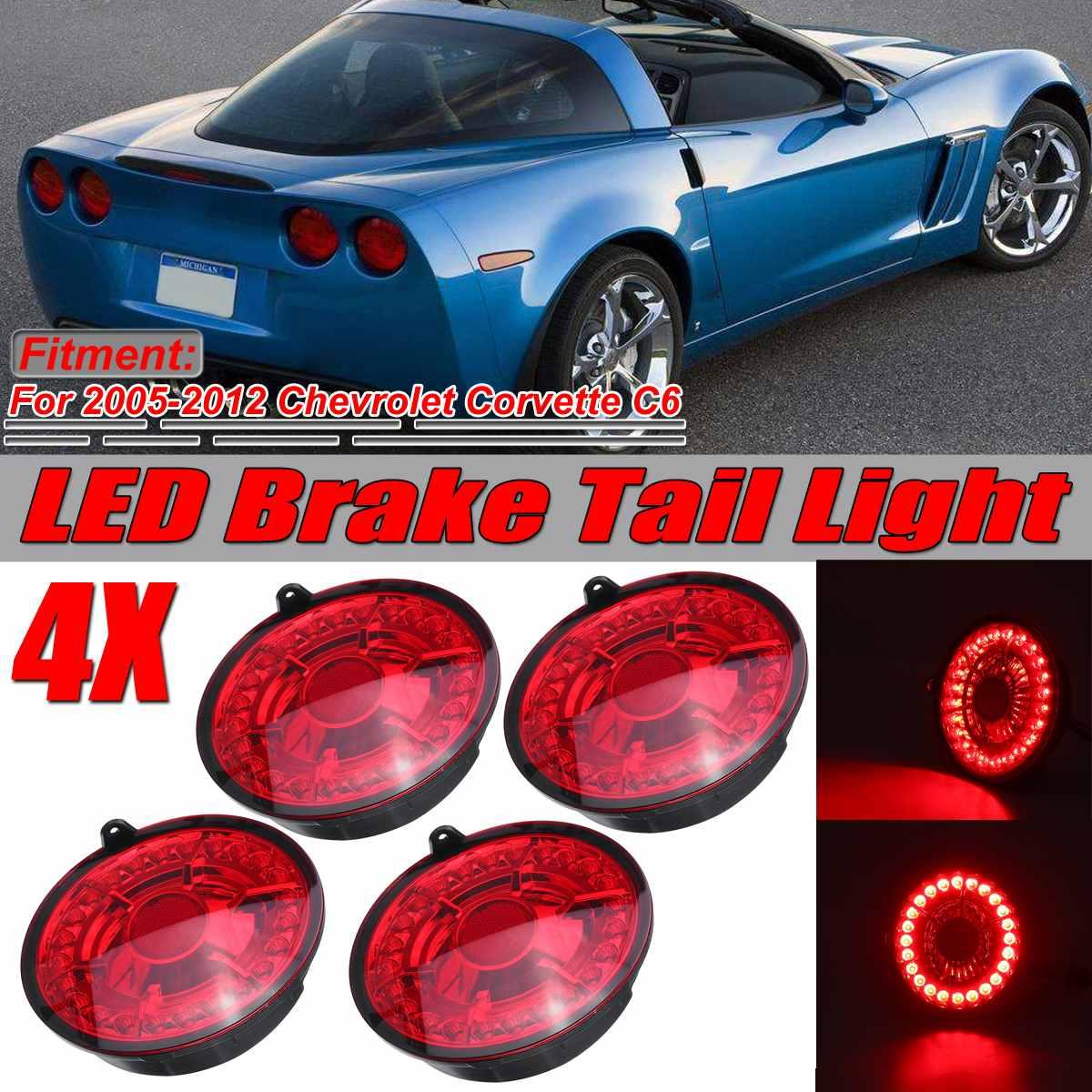 Новый светодиодный автомобильный стоп-светильник C6 s, стоп-светильник светодиодный стоп-сигнал, задний фонарь, лампы для Chevrolet Corvette C6 для куп...