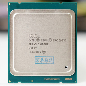 Image 1 - Intel xeon işlemci E5 2690 V2 CPU 3.0G LGA2011 on çekirdek sunucu işlemcisi e5 2690 V2 E5 2690V2 resmi sürümü