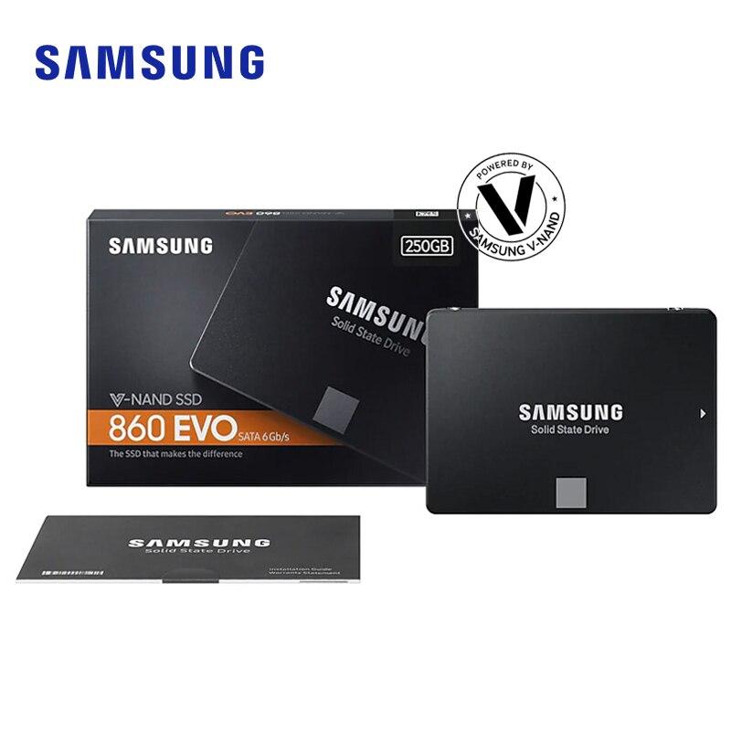 SAMSUNG SSD 860EVO 250GB 500GB 1 to disque dur interne HDD disque dur SATA3 2.5 pouces ordinateur de bureau portable TLC pour ordinateur portable