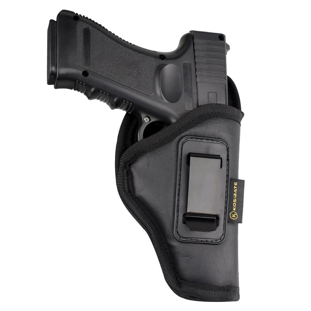 """Kosibate táctico funda para pistola Glock 19 De cuero de la PU funda de transporte oculta para Glock 19 19X 23 1911 3 """"SZ"""