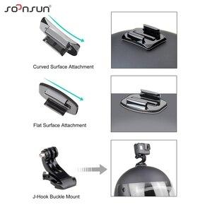 Image 4 - SOONSUN Adaptador de soporte frontal y lateral para casco, reducción de ruido del viento, espuma a prueba de viento, esponja para GoPro Hero 8/7/6/5/2018, accesorio