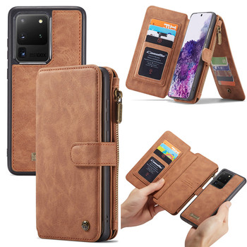 Genuine Leather Case for Samsung S20 Ultra S10 S9 S8 Note 20 10 Plus Wallet Cover for iPhone SE 2020 11 Pro XS Max XR X 7 8 Case
