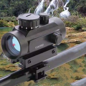1X40 Optics Rifle scope Red Green Dot Sight Illuminated Rangefinder Hunting For Hunting Scope With 11/20mm Weaver Rail