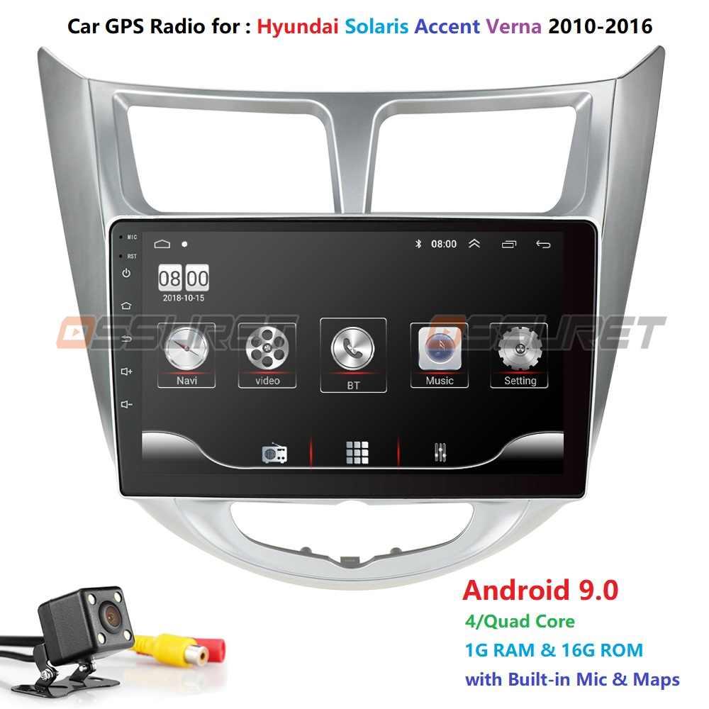 Radio samochodowe multimedialny odtwarzacz wideo nawigacja gps samochód Android dla hyundai solaris Accent Verna 2011 2012 2013 2014-2016