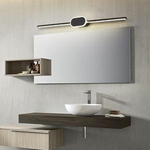 Image 5 - สีดำ/สีขาวโมเดิร์นไฟ LED กระจกเงา 0.4M ~ 0.8M โคมไฟติดผนังห้องนอน headboard Wall sconce Lampe anti FOG espelho ในห้องน้ำ