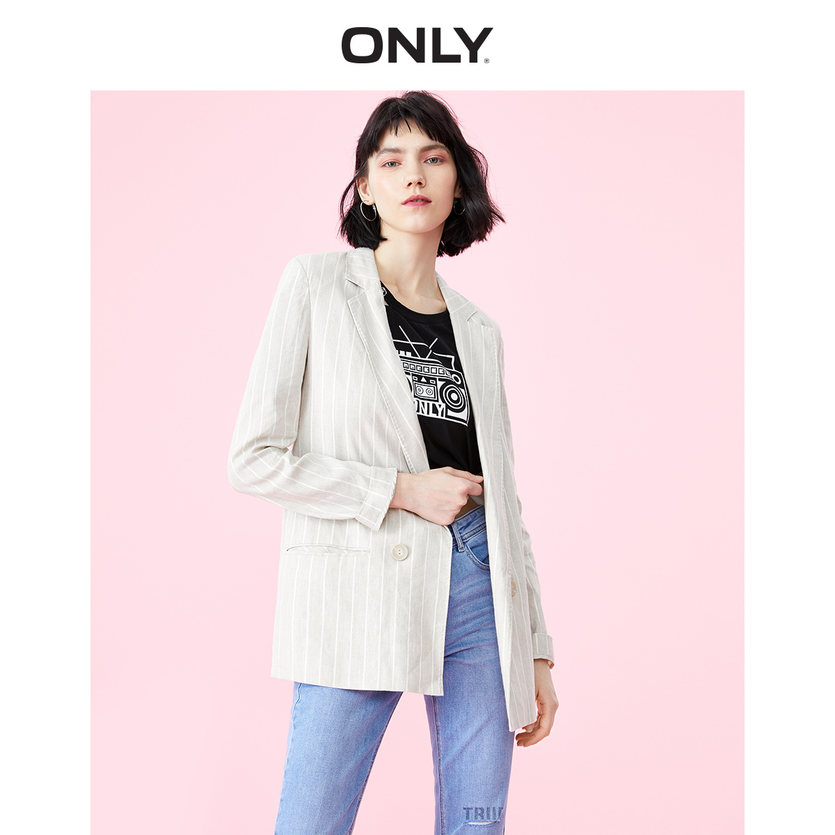 ONLY Women's Women's Loose Fit Linen Blazer | 119108537