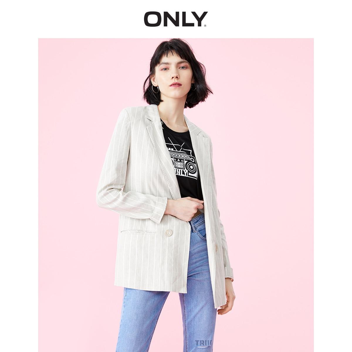 ONLY Women's Women's Loose Fit Linen Blazer | 119108537