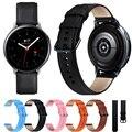 Ремешок из натуральной кожи для Samsung Galaxy Watch Active 2, браслет для смарт-часов Active2 40 мм 44 мм, ширина браслета 20 мм