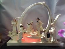 High-grade resin LED  Christmas manger group wedding gift Christian Catholic main giftwholesale