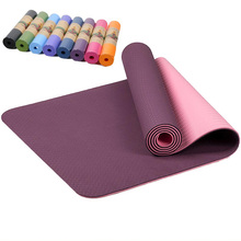 Aidenkid beginner 6 mm thick green non-toxic and tasteless TPE fitness yoga mat home non-slip dance practice 183cm*61cm