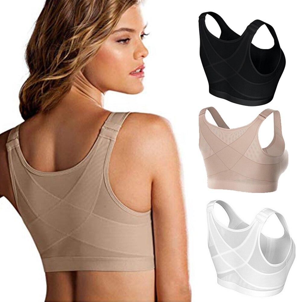 Feminino correção de postura corpo moldar sutiã senhoras respirável sutiã underwear à prova de choque esportes suporte colete espartilho feminino