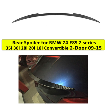 Rear Trunk Spoiler For BMW Z Series Z4 E89 30i 35i 28i 20i 18i Convertible 2 Door 2009 - 2015 Carbon Fiber / FRP image