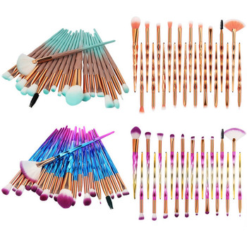 20Pcs Beauty Make Up Brush Powder Foundation Blush Blending Diamond Makeup Brushes Set Eye shadow Lip Cosmetic 1