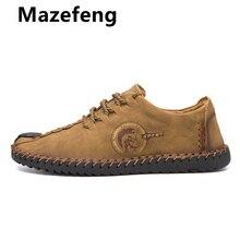 2019 Spring Men Casual Shoes Loafers Men Shoes Quality Split