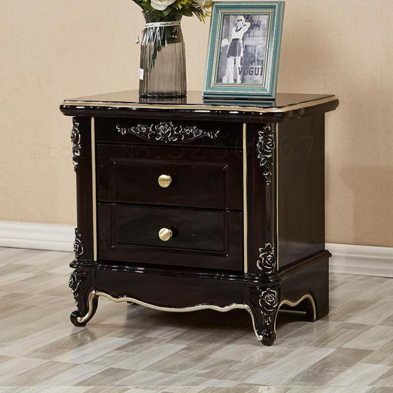 European Bedside Table Solid Wood
