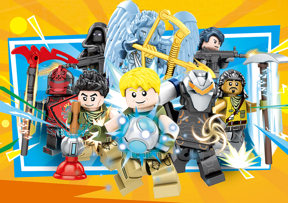 Fortress Night Building Blocks bricks Educational Toys Model Children Gifts Toys Mini Dolls Christmas Gifts Kids 2