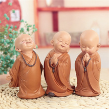 Free shipping car decorations cute monk 10*17cm