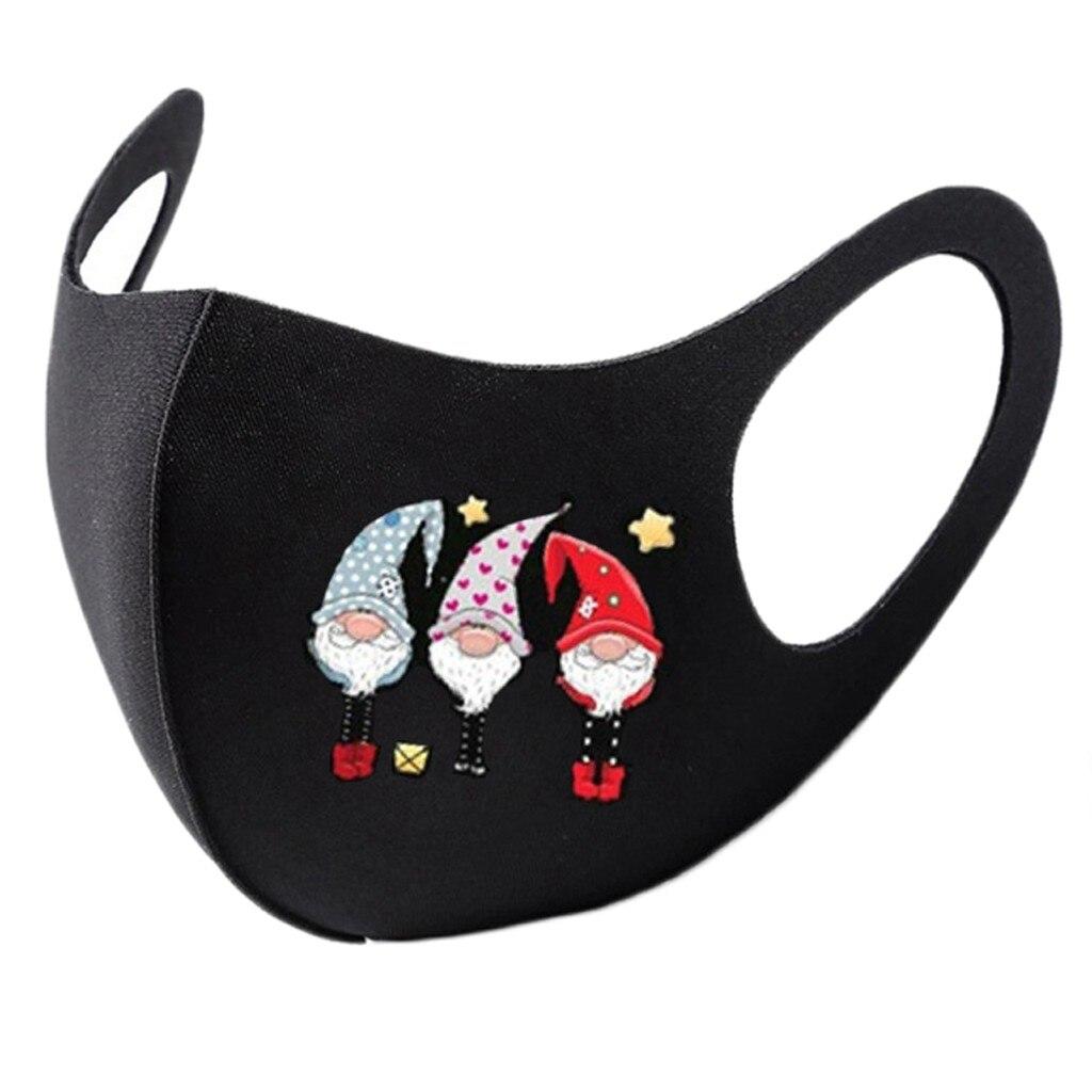 8pc colorido natal máscara facial festa máscara unissex máscaras christms santa elk impressão à prova de vento lavável papai noel rosto shilled 3