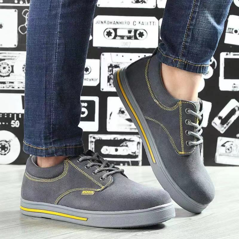 Safety Shoes Men And Women Breathable Steel Head Anti-smashing And Anti-penetration Work Shoes Wholesale Wearable Anti-slip Ligh