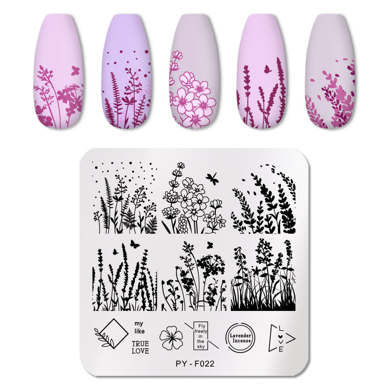 PICT YOU 12*6cm Nail Art Templates Stamping Plate Design Flower Animal Glass Temperature Lace Stamp Templates Plates Image 22
