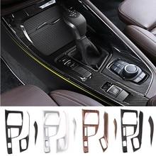 Painel de engrenagem de controle central do carro capa multimídia painel moldura lateral guarnição decoração proteção para bmw x1 f48 x2 f47 2016-2019