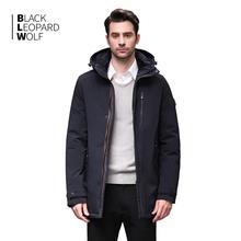 Blackleopardwolf 2019 הגעה חדשה חורף מעיל גברים של מעיל thik parka אלסקה windproof להסרה להאריך ימים יותר יוקרה להאריך ימים יותר BL 1002