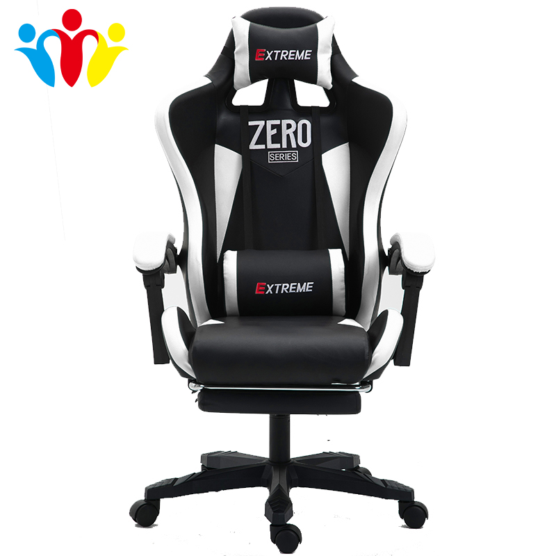 Free Shipping WCG Chair Computer Chair Lacework Office Chair Lying And Lifting Staff Armchair With Footrest Racing Game Chair