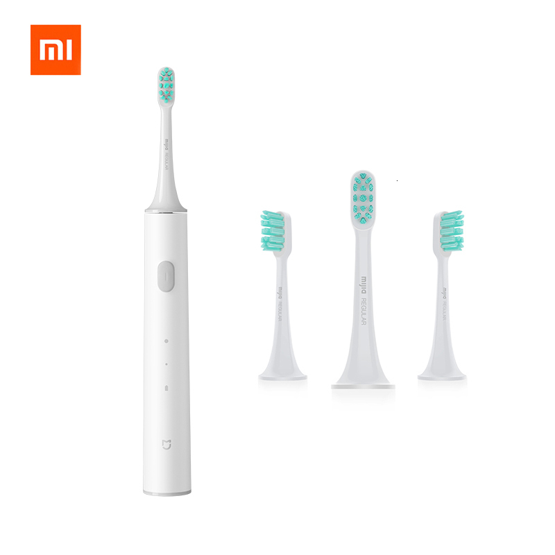 ORIGINAL XIAOMI MIJIA Sonic Electric Toothbrush T300 Rechargeable Waterproof Tooth Brush Adult Smart Ultrasonic Teeth Brush Soft