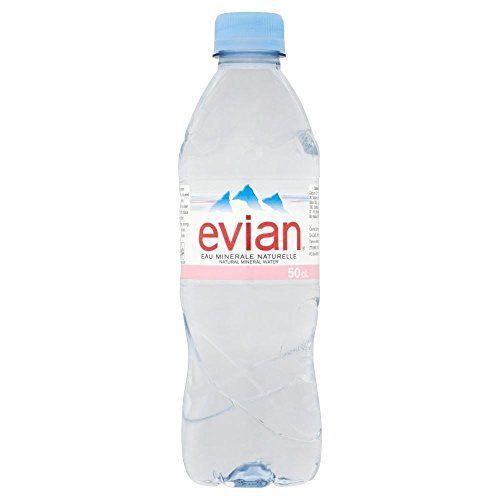 Evian Agua Mineral Sin Gas Natural, (500ml)