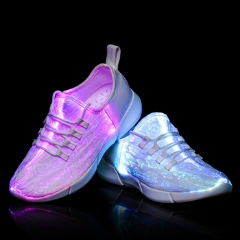 Fiber Optic Shoes for Children Men Women USB Charge Glowing Sneakers Man Light Up  Led Shoes Girls Boys 25-46 kids led shoes men lights up sneakers women usb charging colorful led light up luminous fiber optic shoes for boys girls
