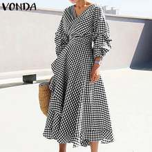 Women Dress 2020 Summer Dot Printed Beach Party Sundress Casual Loose Solid Dress Office Ladies Bohemian Vestidos Plus Size 5XL(China)
