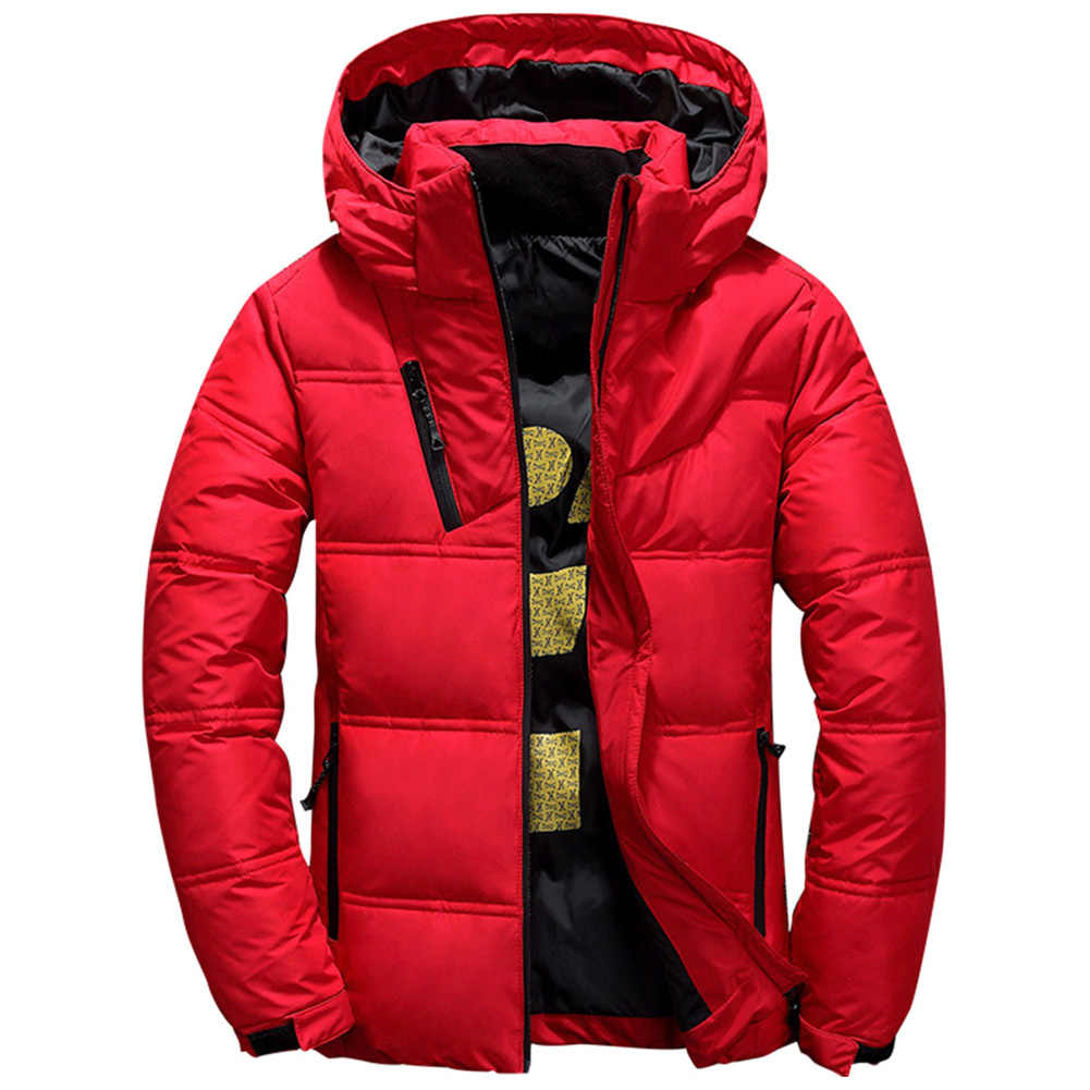2019 新カジュアルメンズジャケットコート冬暖かいジャケットコートパッチワークジャケットフード付きジャケットストリートコートメンズアウターウェア