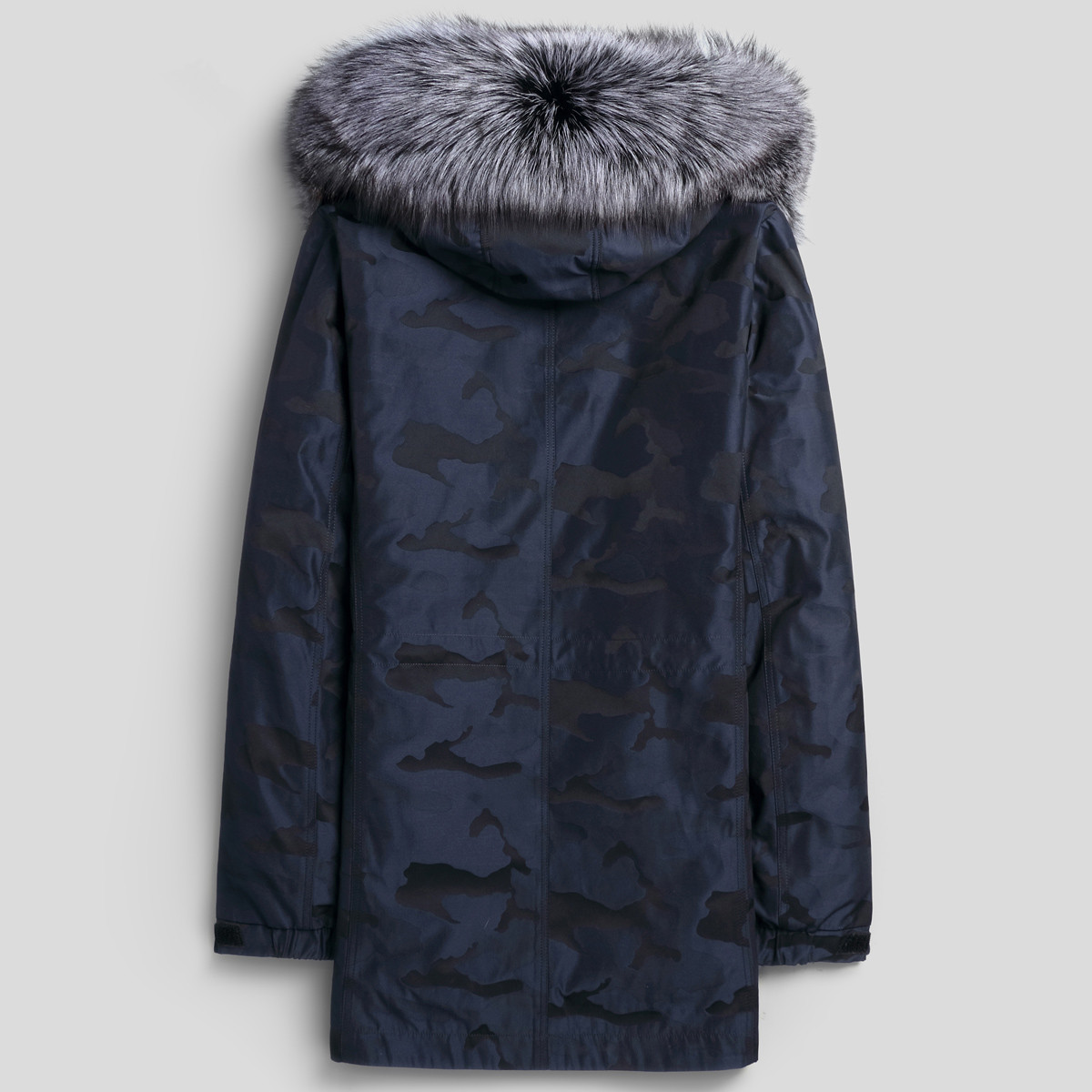 Parka Homme Winter Jacket Men Natural Mink Fur Liner Long Coat Mens Fox Fur Collar Parkas Overcoat LSY088382 Y1362