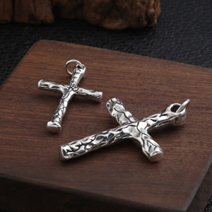 Image 3 - Fnj Cross Hanger 925 Zilveren Originele Pure S925 Thai Zilveren Hangers Voor Sieraden Maken Mannen Vrouwen