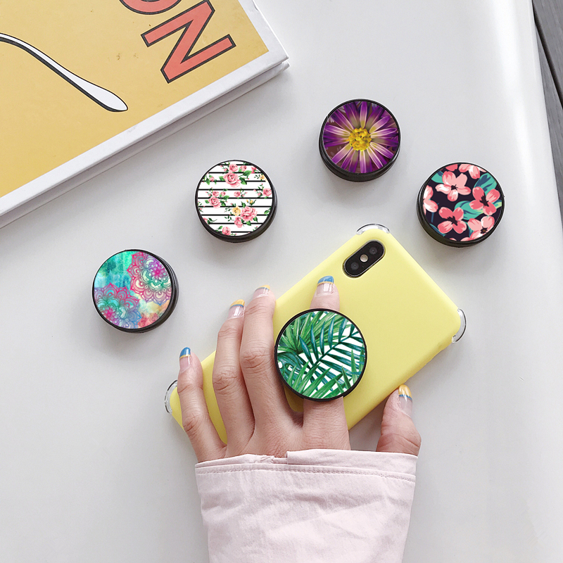 Flowers Butterfly Foldable Finger Ring Holder Phone Stand For Smartphone Tablet Phone Bracket Holder For IPhone Samsung Huawei