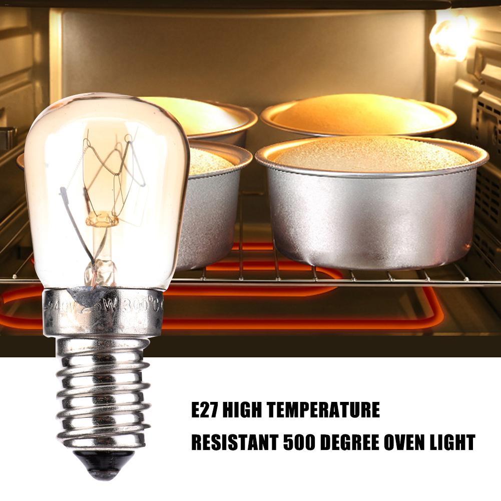 220V High Temperature Bulb 15W 25W 40W E14 Microwave Oven Light Bulbs Cooker Tungsten Filament Lamp Bulbs Salt Light Bulb