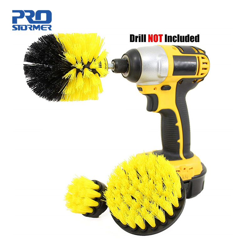 PROSTORMER 3pcs/set Power Scrubber Brush Electric Drill Brush Cleaner Kit Cordless Power Scrub Cleaning Kit