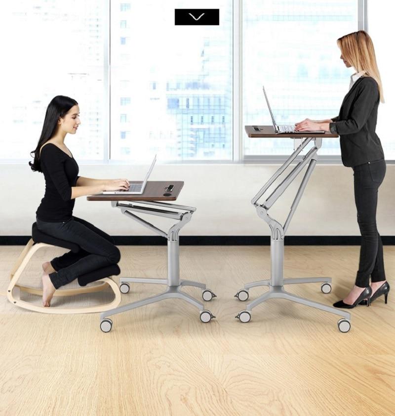 K-STAR Многофункциональный пневматический Регулируемый подъемный мобильный стол для ноутбука, домашний офисный стол для обучения, стол для л...