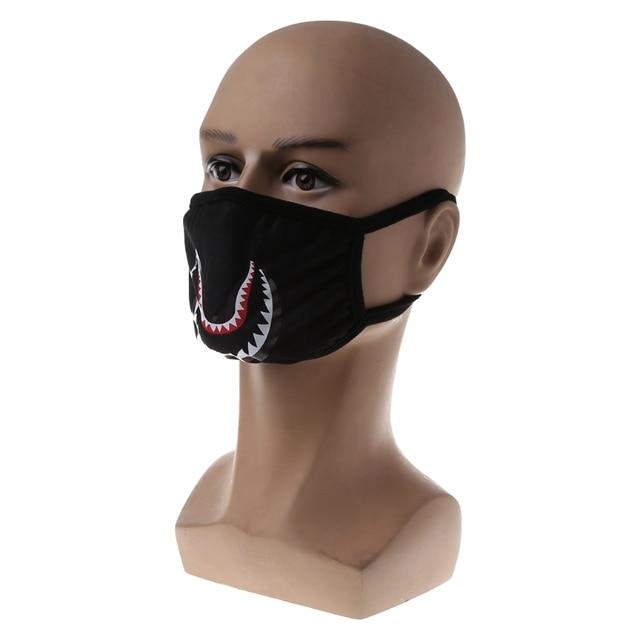 Shark Mouth Anti-Fog Flu Face Masks Unisex  Mouth-muffle Mask