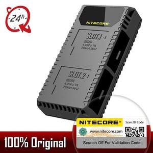 Image 1 - Nitecore ugp5 para gopro hero 5 preto usb duplo slots carregador para gopro hero 5 gopro herói 6 gopro herói 7 bateria preta