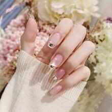 24 шт модные искусственные ногти во французском стиле с большими