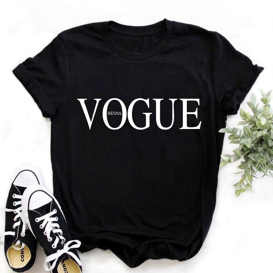 ZOGANKIN Summer New Fashion Vogue Ladies Printed Women Tshirt Kawaii 90s Girls Shirts Female Black Short Sleeve Tops Tee