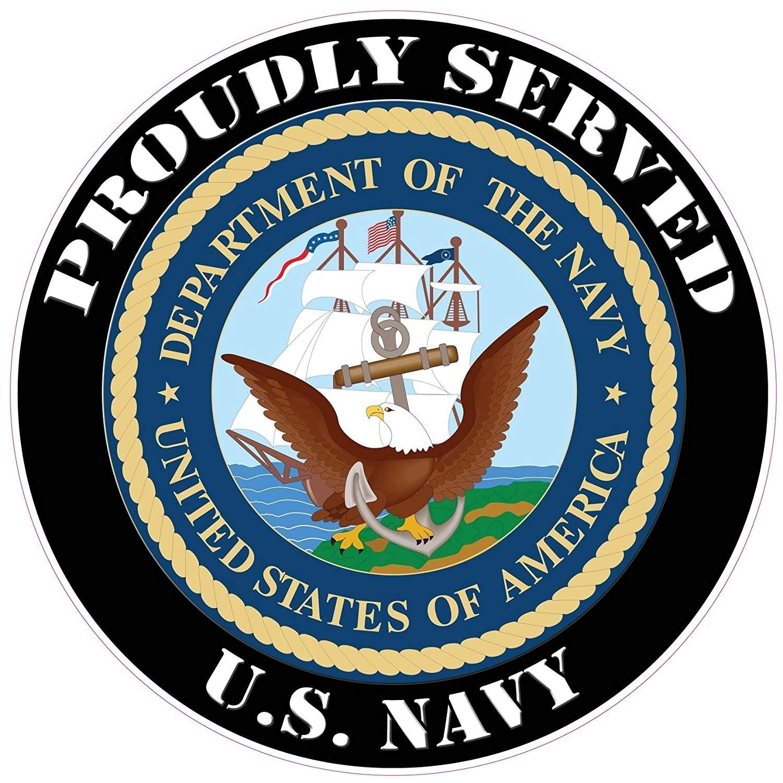 US NAVY RETIRED SKULL VINYL DECAL UNITED STATES NAVY STICKER MILITARY ANCHOR