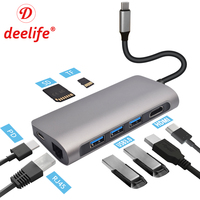Deelife USB C HUB to Multi USB 3.0 HDMI Adapter Dock for MacBook Pro Accessories Huawei P30/P20 USB C Type C 3.1 Splitter HUB