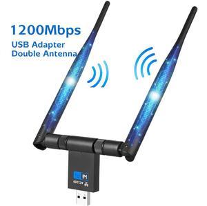 1200 Мбит/с WIFI USB адаптер двойная антенна USB 3,0 сетевая карта 5 ГГц беспроводной адаптер для ноутбука Win 7/8/10 Linx2 MAC OS Vista