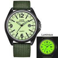 Wojskowy męski zegarek kwarcowy czarna tarcza data luksusowy zegarek sportowy na rękę płótno kalendarz tarcza z cyframi moda nowy Montres hommes 30 *