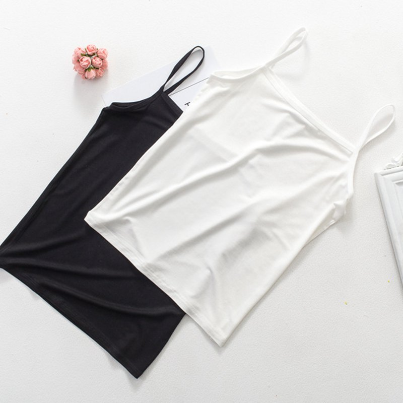 X 2019 New Summer Crop Top Women <font><b>Sexy</b></font> Charming Slim Fit Personality Solid Color Short Camisoles Tops cropped <font><b>haut</b></font> <font><b>femme</b></font> image