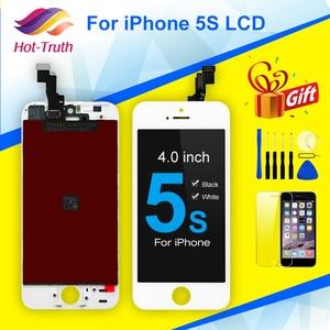Image 1 - Đen Trắng Màn Hình LCD Cho iPhone 5S Màn Hình Hiển Thị LCD A1453 A1457 A1518 A1528 A1530 A1533 Màn Hình LCD Hiển Thị Màn Hình Cảm Ứng bộ Số Hóa
